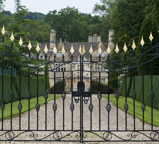 At the gates of a large estate